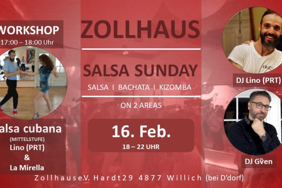 Salsa Sunday on 2 Areas | one for Kizomba only 16.Februar